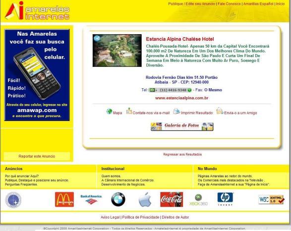 Amarelas Internet - Anúncio Premium