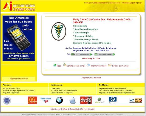 Amarelas Internet - Anuncio Standard